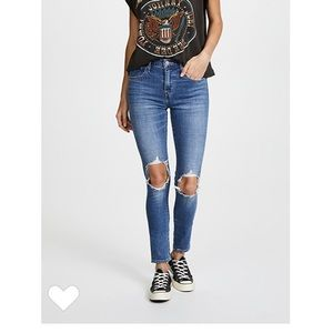 Levi's 921 High Rise Distressed Skinny Jeans